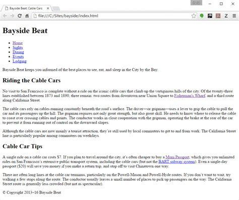 Dreamweaver Tutorial Bayside Beat | how to make a website part 3 add html5 elements adobe