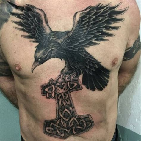 raven chest tattoo tattoos ideas in celtic style 2018
