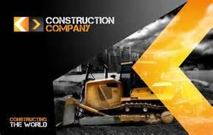 rw construction company identity stationery templates