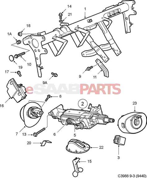 saab 93 parts diagram 2004 saab 9 3 steering diagram saab auto parts catalog