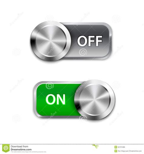 Switch On toggle switch on and position on sliders royalty free stock images image 32701089