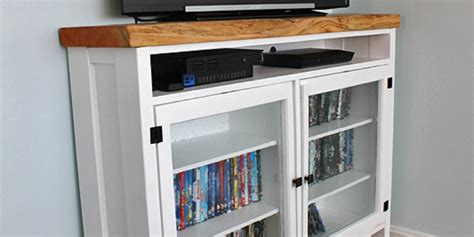 Tv Storage Cabinet With Doors Remodelaholic Build A Tv Console Using Windows