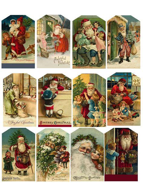vintage christmas gift tags printable free vintage christmas hang tags printable collage sheet download