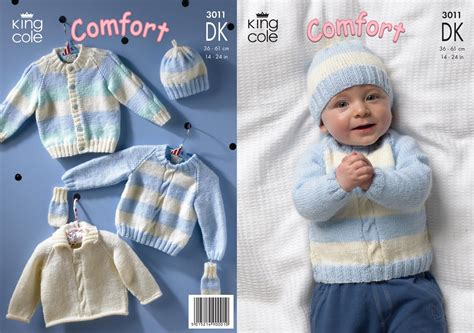 king cole comfort king cole 3011 knitting pattern cardigan sweaters hat