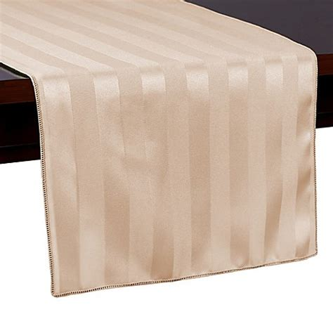 54 inch table runner buy poly stripe 54 inch table runner in brown from bed