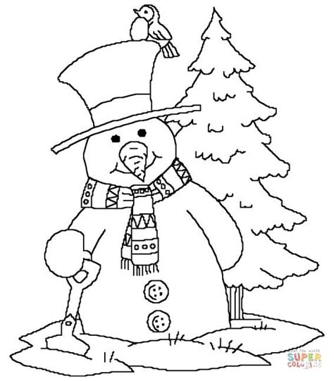 Christmas Tree And Snowman Coloring Pages | snowman arms coloring pages coloring pages