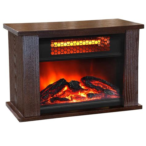 pro 750 watt 2 element mini infrared fireplace heater