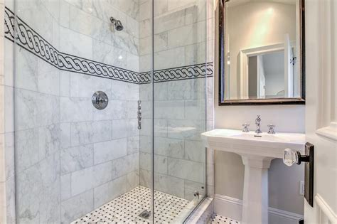 black and white border tiles for bathroom black and white shower tiles black and white chain accent
