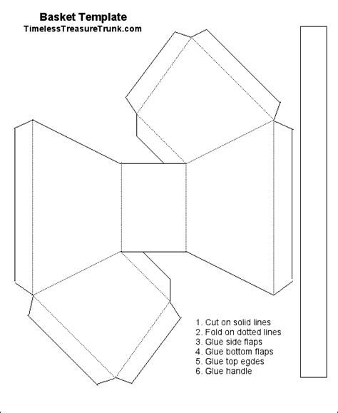 template for basket timeless treasure trunk small basket template