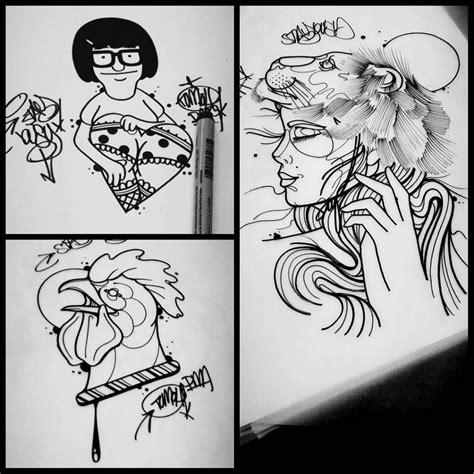 cartoon tattoo artist toronto graffiti tattoos graff style lettering designs
