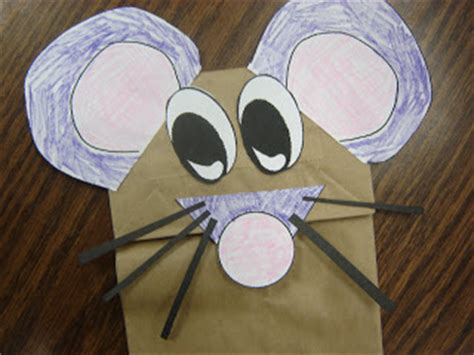 Paper Bag Mouse Puppet Pattern | mice are nice awesome story time