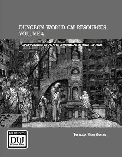 delicious in dungeon vol 4 dungeon world gm resources volume 4 diceless