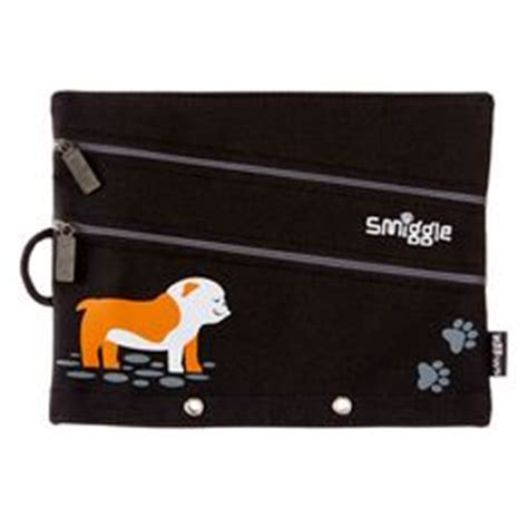 Smiggle A5 Pencil Canvas wrap it up theme packages dashing dogs on