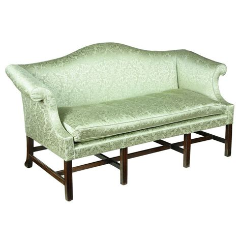 chippendale camelback sofa small scale chippendale mahogany camelback sofa for sale