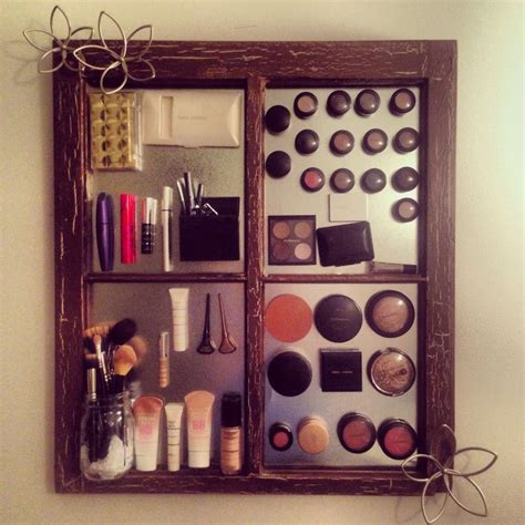 magnetic makeup board diy makeup storage ideas