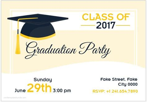 graduation card templates 10 best graduation invitation card templates ms word