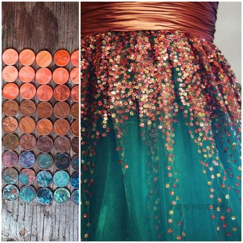 copper color combinations pennies a copper and teal dress runway gowns