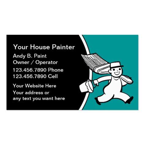 painter business card template free 600 painting contractor business cards and painting