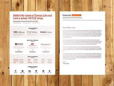 resume template psd ai free visual resume cv psd ai template free