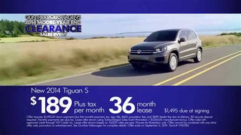 2014 volkswagen tiguan model year end clearance sales