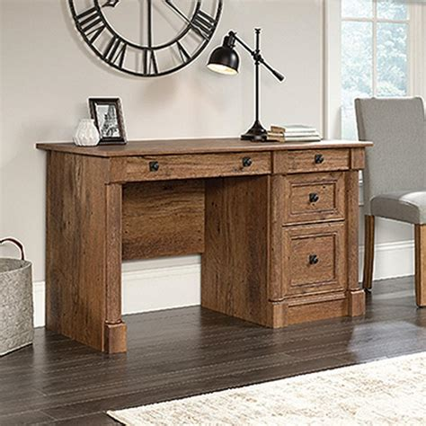 sauder palladia executive desk in vintage oak sauder palladia collection vintage oak computer desk