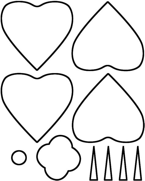 template of a poppy poppy outline clipart best