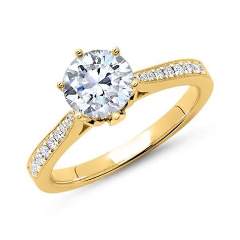 Verlobungsring Gold Mit Diamant by 750er Gold Ring Mit Diamanten Dr0118 18kg