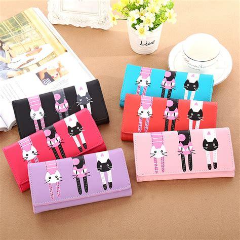 Dompet Kartu Kulit Pu Crocodile Pattern la vie kartun kucing dompet pemegang kartu pu kulit tas koin berwarna merah muda lazada