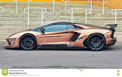 rose gold lamborghini rose gold lamborghini aventador roadster editorial