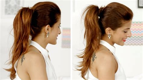 what is the easiest hairstyle to fix ponytail trick how to add volume to your ponytail quick