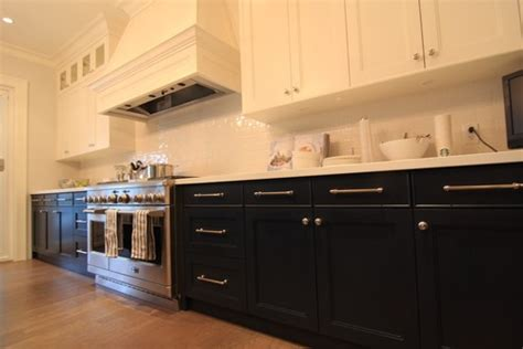 Pondering Two Tone Kitchen Cabinets Black Or Dark Brown Black And Brown Kitchen Cabinets