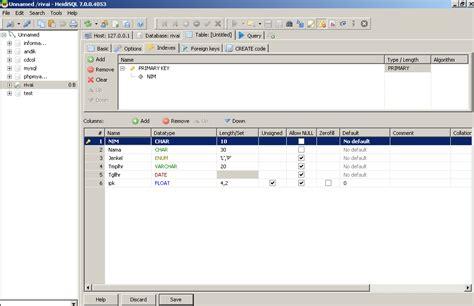 membuat database heidisql mysql berbasis gui dengan menggunakan heidisql rivai
