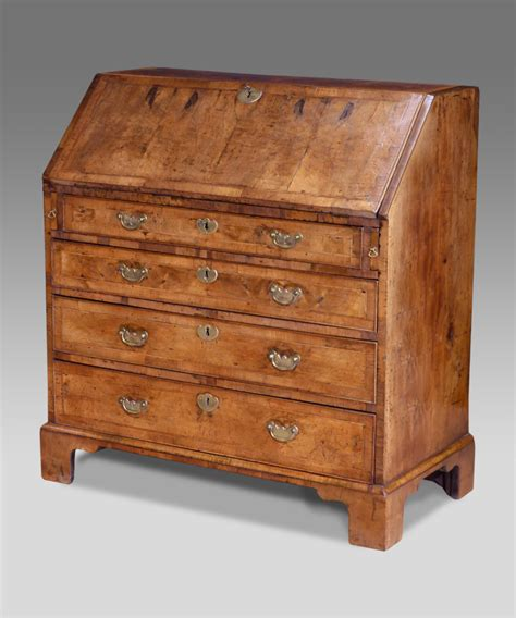Bureau Furniture by Antique Walnut Bureau Georgian Bureau Walnut Desk