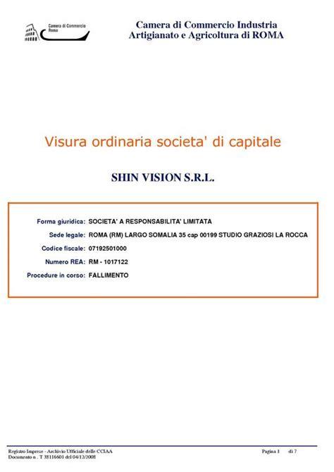 ufficio protesti roma visura camerale certificati e pratiche