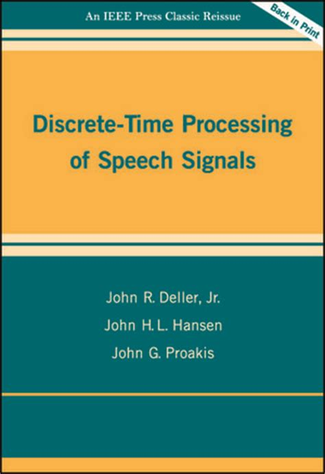 digital signal processing with kernel methods wiley ieee books wiley ieee press discrete time processing of speech