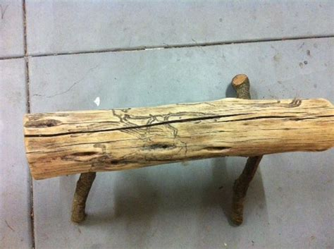 wood log bench natural wood log bench