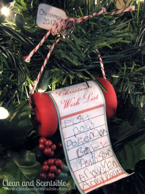 wish list christmas tree ornament clean and scentsible