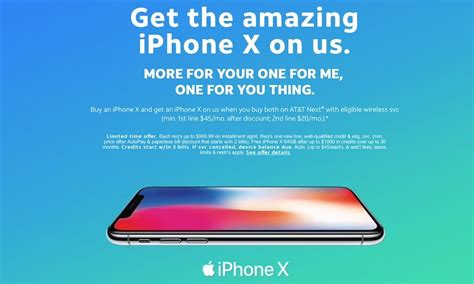 at t offers bogo deal on iphone x and more