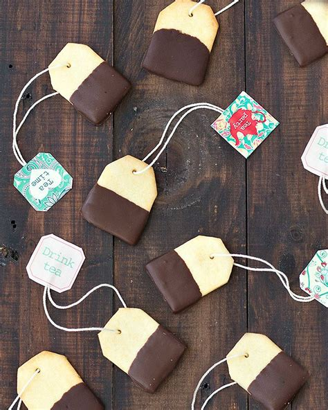 Home Decorating Made Easy by Chocolate Dipped Shortbread Tea Bag Cookies As Easy As