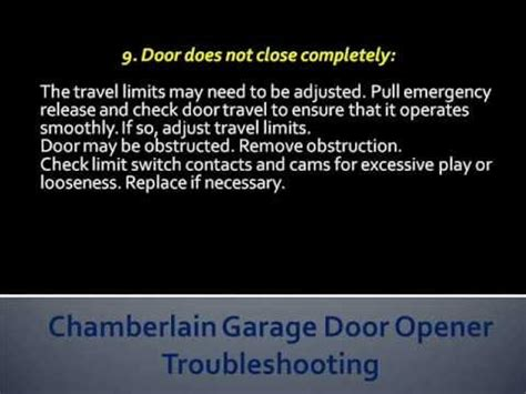 Chamberlain Garage Door Troubleshooting by Chamberlain Garage Door Opener Troubleshooting How To Troubleshoot Chamberlain Garage Door