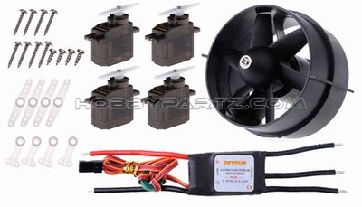 Dynam 64mm Edf Power Combo Set detrum 64mm edf power combo set 64mm edf 40a esc 4pcs 9g servos kv3600 brushless motor 60p