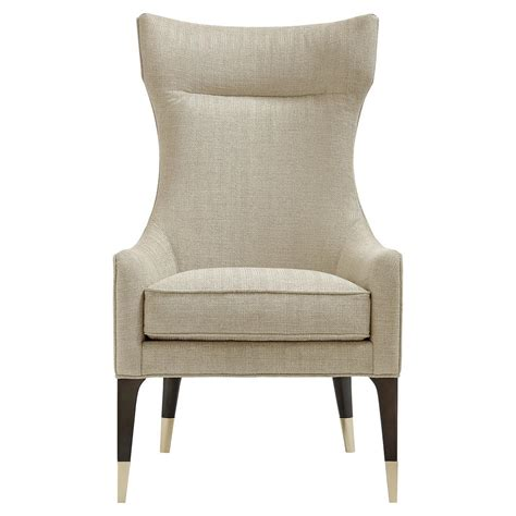 classic wing armchair gina modern classic upholstered wing chair kathy kuo home