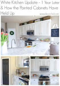 Update White Kitchen Cabinets a white kitchen update 1 year later decorchick