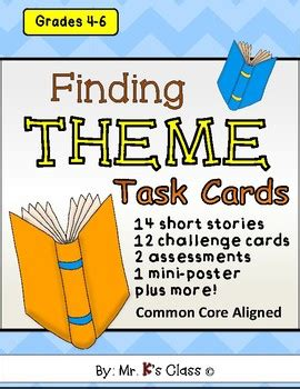 Finding Themes In Short Stories | finding theme task cards short stories extension