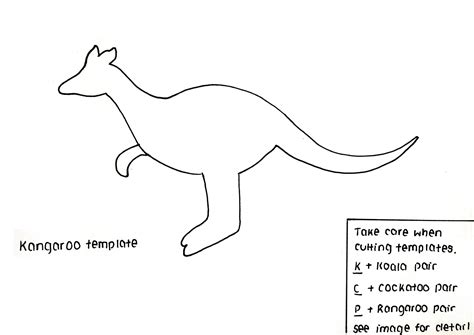 printable kangaroo template 27 images of kangaroo template infovia net