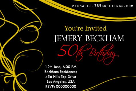 50th Birthday Invitations And 50th Birthday Invitation Wording 365greetings Com Invitation Templates 50th Birthday