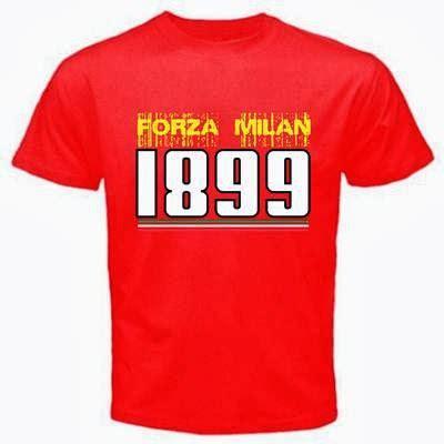 Kaos Tshirt Ac Milan Forza Milan curva sud ultrashop t shirt forza milan 1899