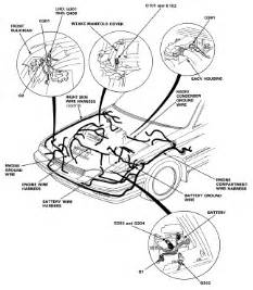 honda prelude wiring harness routing and ground location 88