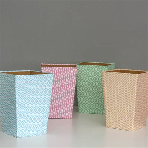 waste paper bins recycled pastel geometric waste paper bin large by heart