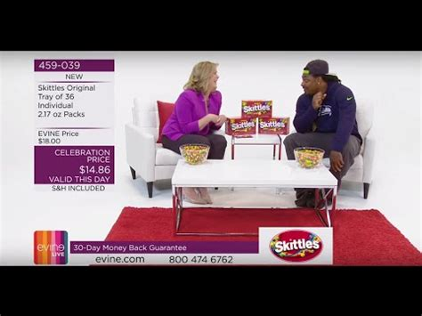evine live your online shopping headquarters marshawn lynch sells skittles on the evine live shopping